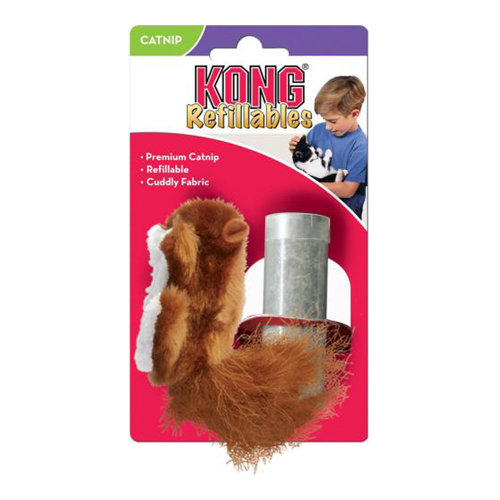 Kong Cat Refillable Catnip Squirrel Cat Toy