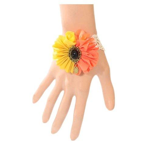 Complex Gulei Si Crystal Gemstone Bracelet Ring Jewelry, Flower