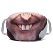 Funny 3D Tooth Anti-Dust Half Face Mask