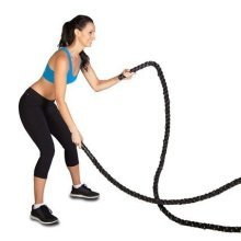 Phoenix Fitness Unisex 10m Battle Rope, Black, 10 M -