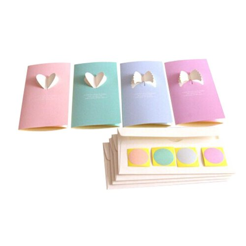 Lovely Angel Series Cards, 8 Cards+8 Envelopes+8 Pasters/Random Delivery