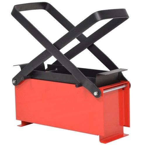 vidaXL Paper Log Briquette Maker Steel 34x14x14cm Black and Red Fireplace Tool
