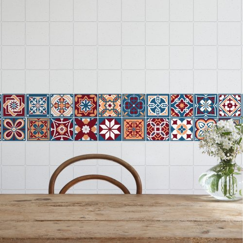 Walplus Tile Westminster Tiles Wall Sticker Decal (Size: 10m x 10cm @ 24pcs)