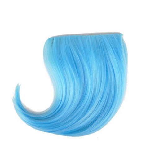 Colorful Wigs for Cosplay,Stage/Party Wig/Hair Bangs Wig, Light Blue