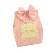 Set of 10 Wedding Festival Candy Paper Bag/Chocolate Box/Gift Carrier Pink