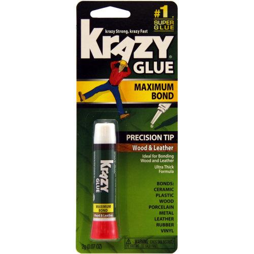 Instant Krazy Glue For Wood & Leather-.07oz