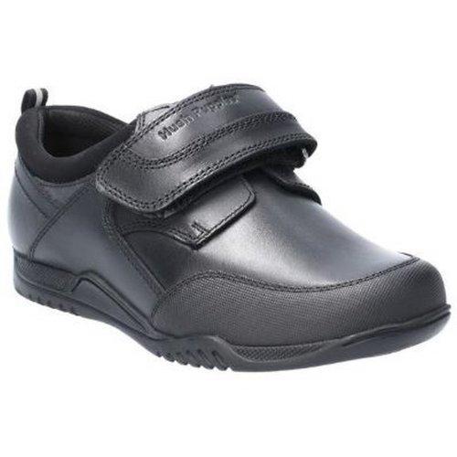 Hush Puppies Boys Noah Senior Touch Fastening Leather School Shoe