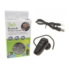 Wireless Bluetooth Headset With Adjustable Ear Loop -  wireless bluetooth headset adjustable ear loop itech mobile