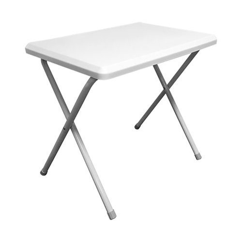 Resin Camping Foldaway Table-White