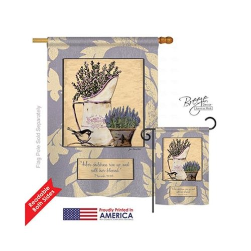 Breeze Decor 03059 Proverbs 3128 2-Sided Vertical Impression House Flag - 28 x 40 in.