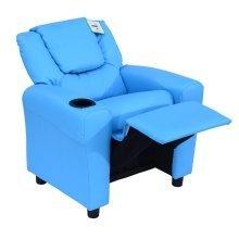Homcom Kids Recliner Armchair Seat in Pu Leather