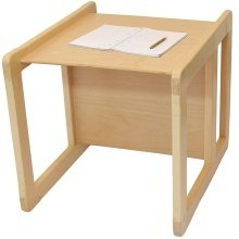 Obique Multifunctional Furniture 1 Table Beech Wood, Natural