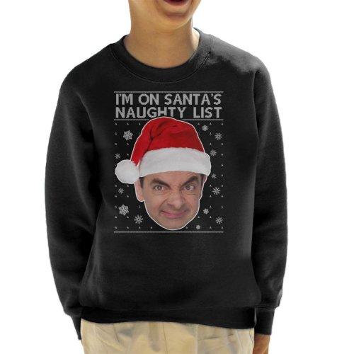 Mr Bean I'm On Santa's Naughty List Christmas Knit Kid's Sweatshirt
