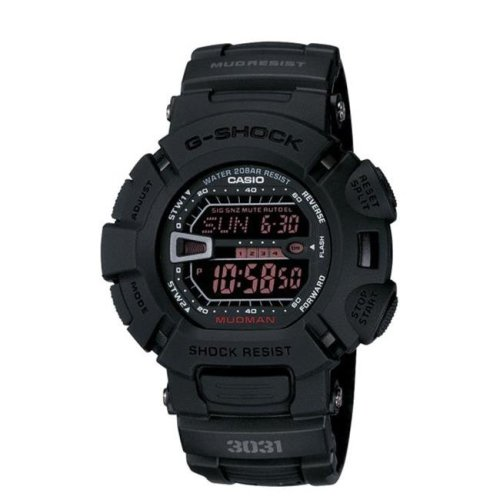 G9000MS-1CR Casio Mens G-Force Military Concept Black Digital Watch