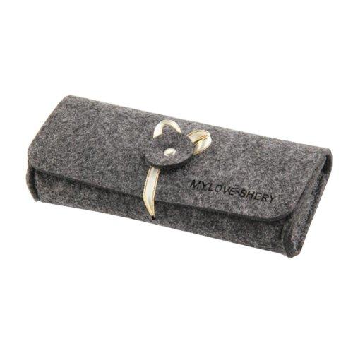 Dark Gray Felt Eyeglasses Box Case