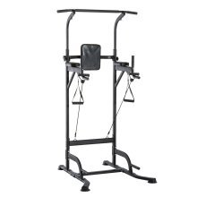 Homcom Power Tower Multi-Function Adjustable Abs Dip Station Home Gym