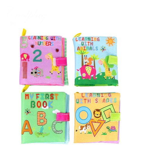 TOYMYTOY Cloth Book Set Baby Kids Early Learning Educational Toys - 4 Pieces