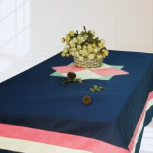 [Fascination] Handmade Tablecloth Durable Canvas Table Cover, 180*140 cm