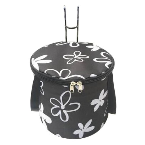 [Flower-2] Waterproof Canvas Bicycle Basket Foldable Lidded Basket for Bike