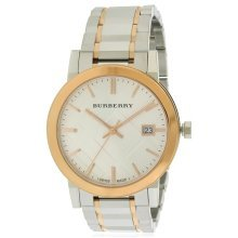 Burberry Large Check Stamped Two-Tone Ladies Watch BU9006