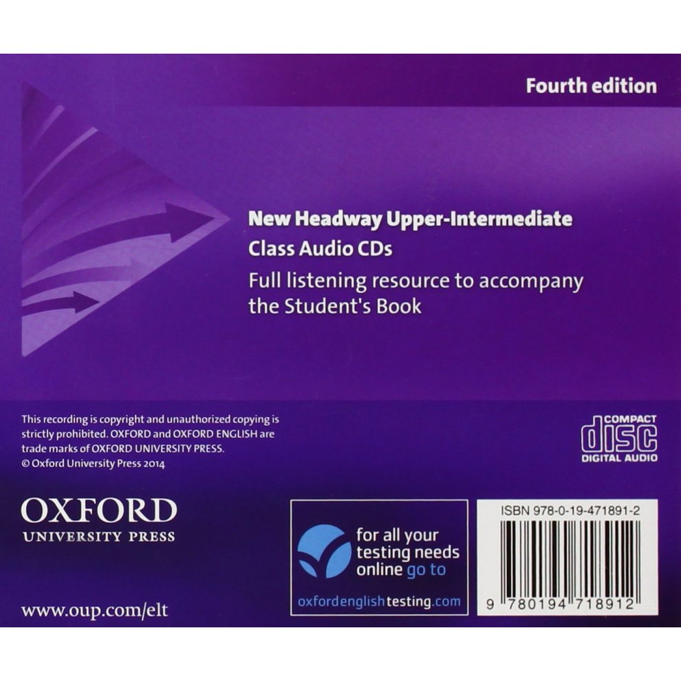New Headway: Upper-Intermediate B2: Class Audio CDs: The world's most  trusted English course
