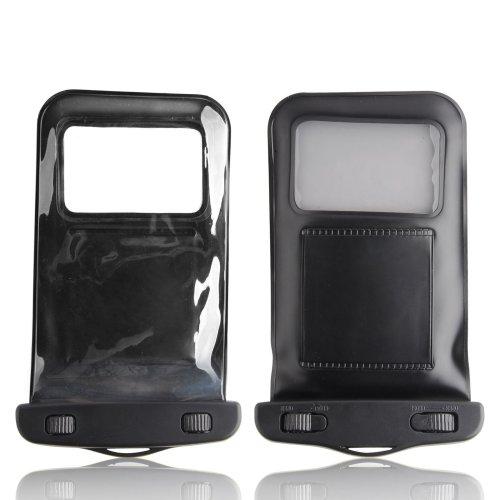 "InventCase Waterproof / Sandproof / Dustproof Bag Protective Case Cover for 6"" (6 inch) Smartphones - Black"