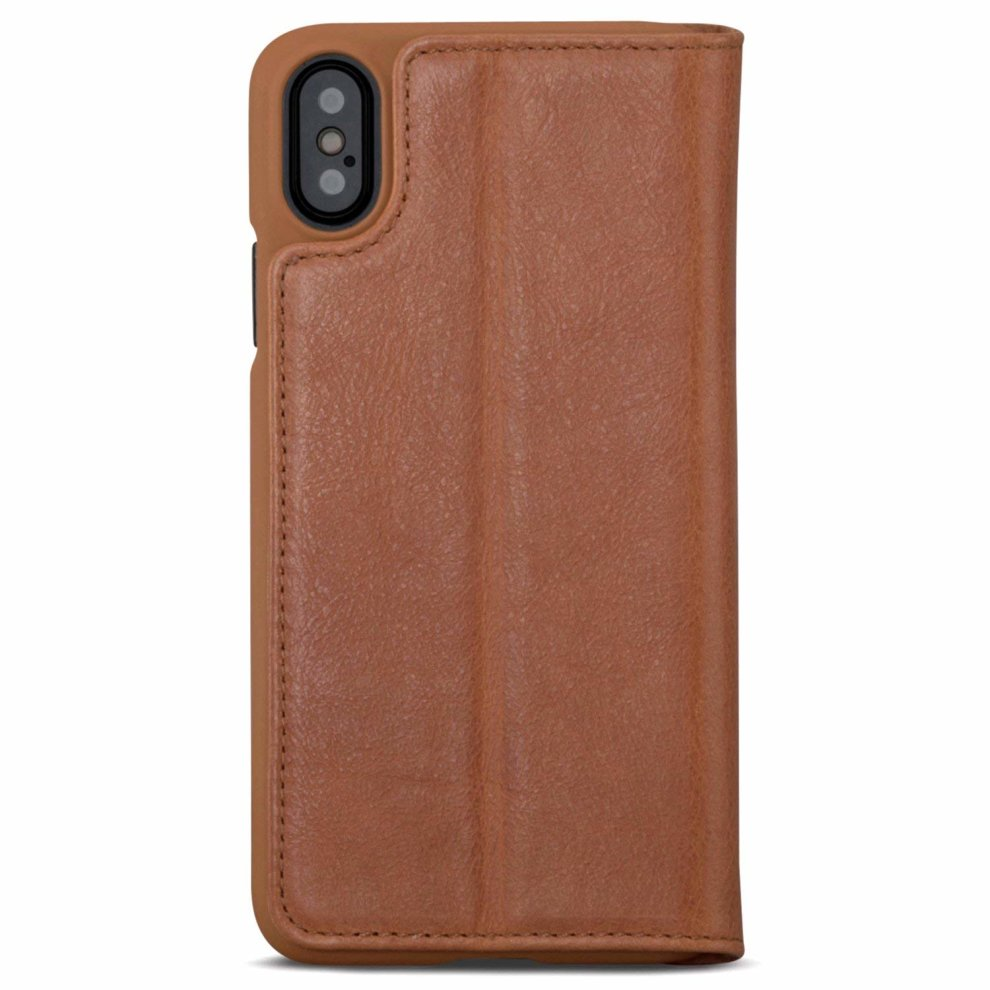 huge discount 9ed4b 47a4b iPhone XS Leather Case/iPhone X Flip Cover Brown - KANVASA
