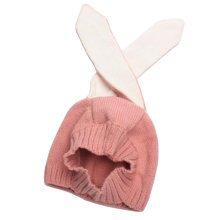 Baby Boys Girls Keep Warm Head Cap Winter Hats Knitted Hats Rabbit Ears Hat-A2