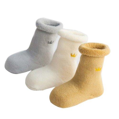 3 Pairs Baby Winter Socks Thick Terry Socks Warm Cotton Socks [A-2]