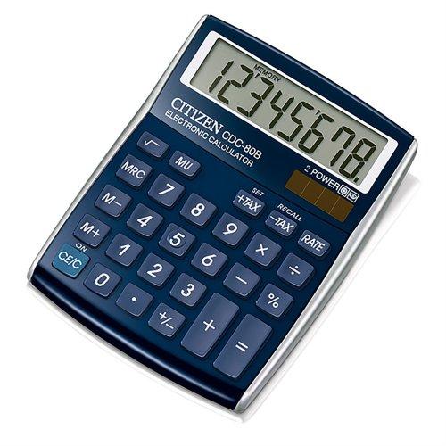 Citizen CDC-80BLWB C-Series Desktop Calculator