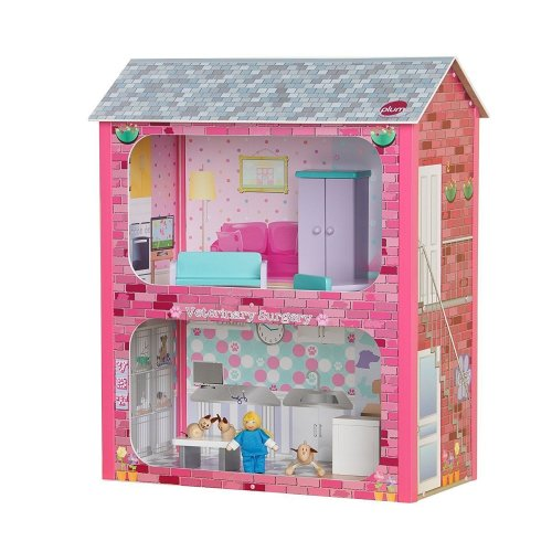 Plum Camden Court Wooden Dolls House Veterinary Surgery & Toy