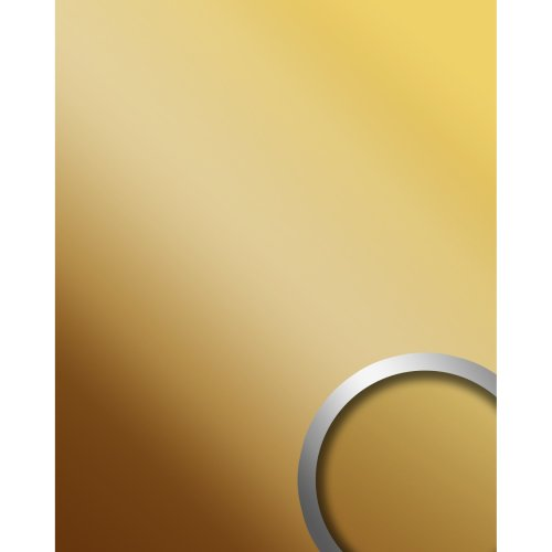 WallFace 10139 DECO BRASS Wall panel self-adhesive Mirror glossy brass 2.6 sqm