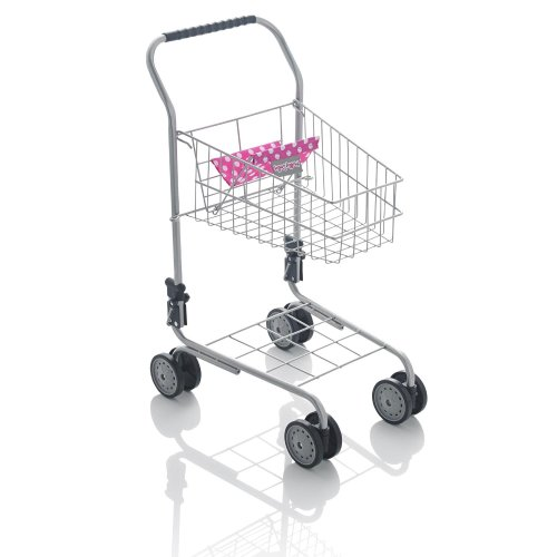 Molly Dolly Deluxe Metal Shopping Trolley | Kids' Metal Shopping Trolley