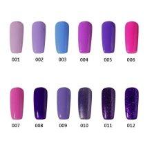 12 Colors UV Gel Polish Soak-off Nail Glue Noble Purple Charming 12ml