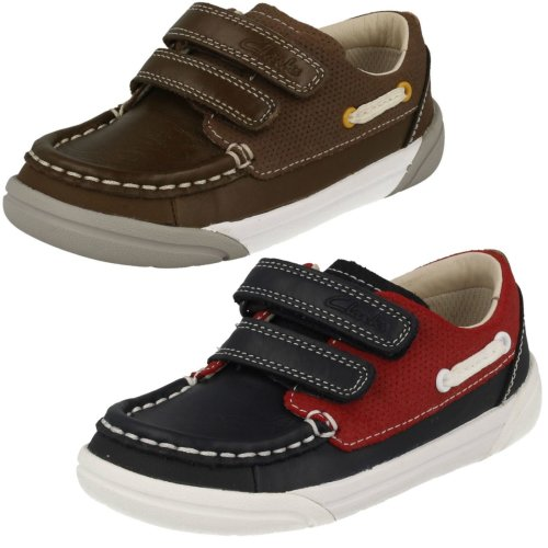 Boys Clarks Casual Shoes Lil Folk Fun - F Fit