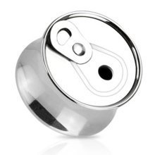 Urban Male Pack of Five Stainless Steel Ear Stretching Plugs Double Flared Can Design