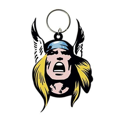 Thor (face) - Rubber Marvel Face Keyring Keychain Pyramid Avengers -  thor rubber marvel face keyring keychain pyramid avengers