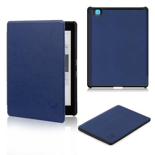 Kepuch Kobo Aura Edition 2 Case - Folio Premium PU Leather Cover Case for Kobo Aura Edition 2 2016 Ereader with auto wake sleep - Blue