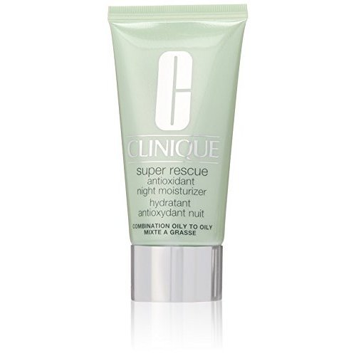 Clinique Super Rescue Antioxidant Night Moisturizer for Unisex, Combination Oily to Oily, 1.7 Ounce