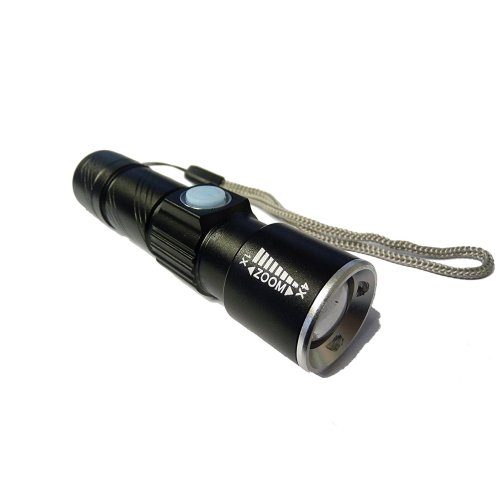 Trixes Ultra Bright LED Torch With Zoom | USB Rechargeable Pocket Torch