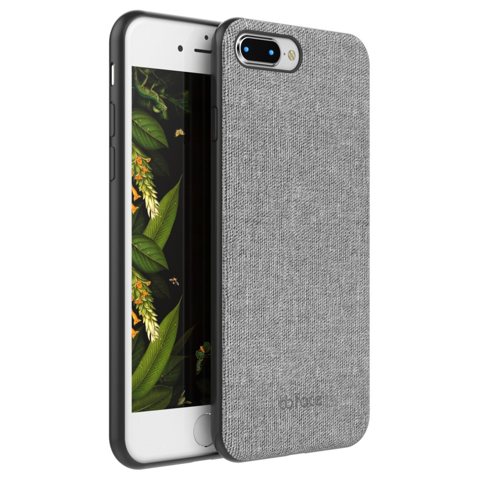 the latest 2bc59 f72f7 iPhone 7 Plus / iPhone 8 Plus Magnetic Case With Car Phone Holder Fabric  Textured Pattern Protective Back Cover PC Plastic Hard Case With Built-in...
