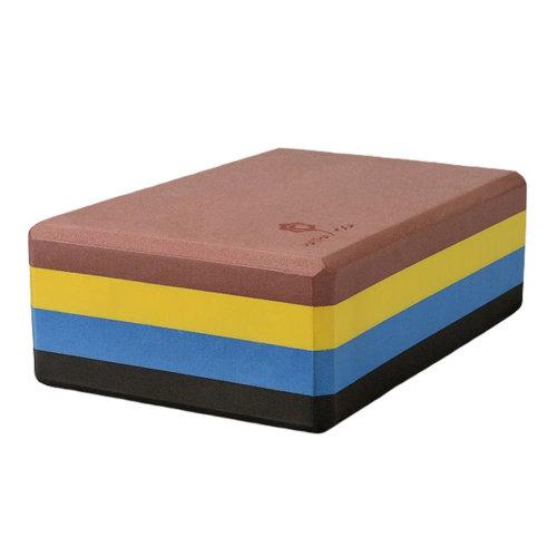 High-Density Yoga Block Foam Blocks Brick Yoga Mat Accessory Gym - Rainbow
