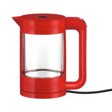 Bodum Bistro Double Wall 1.1lt Glass Kettle In Red