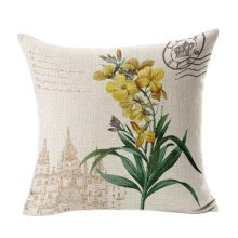 Home/Office Cotton Linen Decorative Pillowcase Cushion Cover Sweet Flowers ,No.8