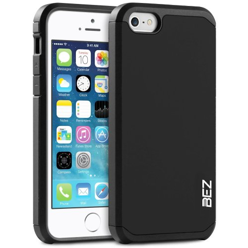 online store a0c8f 5c05b iPhone SE Case, iPhone 5 5S Case, BEZ® Shockproof Case Cover, Shock  Absorbing Case Best Heavy Duty Dual Layer Tough Cover for iPhone SE and  iPhone...