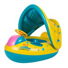 Shaded Toddler Swimming Pool Ring | Kids' Swim Ring & Canopy