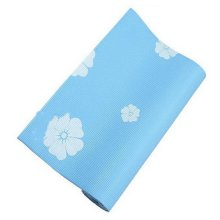 Rubber Yoga Mat Eco Print Yoga Exercise Mat 6mm (Blue)+ Mesh Bag