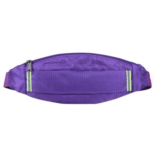 Outdoor Sports And Leisure Large Capacity Fashion Waist Bags, Dark Purple