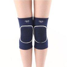 Knee Brace Sleeve for Sports, Yoga, Dance, Arthritis, Joint Pain, Blue(L)