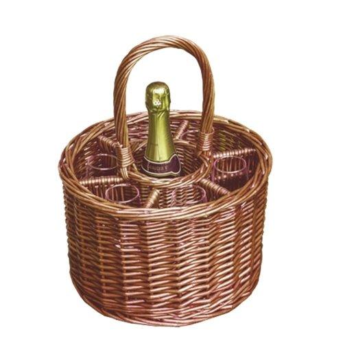 Small Deluxe Single Bottle Drinks Basket